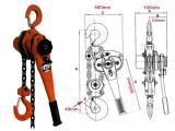 Palang xích lắc tay 6 tấn 1.5m Kawasaki